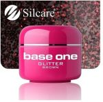 glitter 17 Brown base one żel kolorowy gel kolor SILCARE 5 g